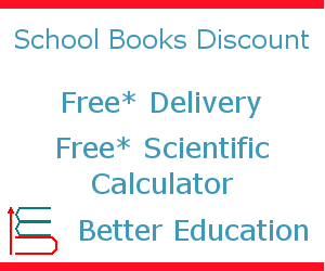 School textbooks up to 20% off, free delivery available