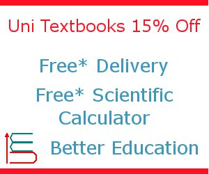 Uni Textbooks 15% off, free delivery