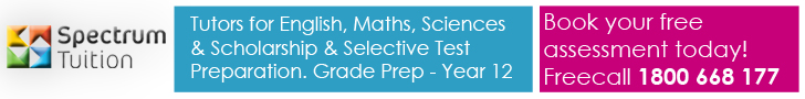 Spectrum Tuition - Tutors for English, Maths, Sciences, Scholarship & Selective Test Preparation. Grade Prep - Year 12