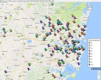 Feature Map - Sydney Top High School Ratings