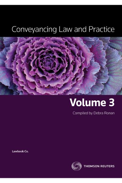 Conveyancing Law & Prac Vol 3