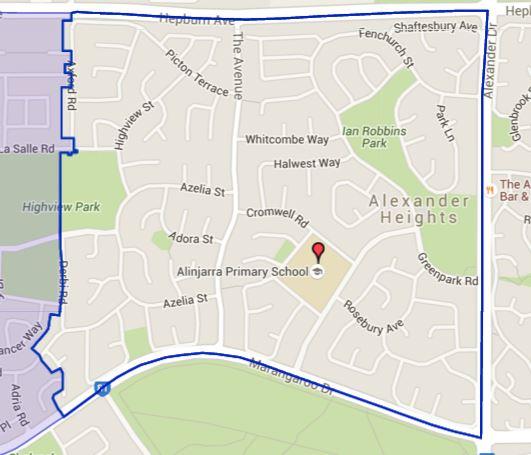 School zone of Yowie Bay Public School, Wonga Road, Yowie Bay, 2228, NSW