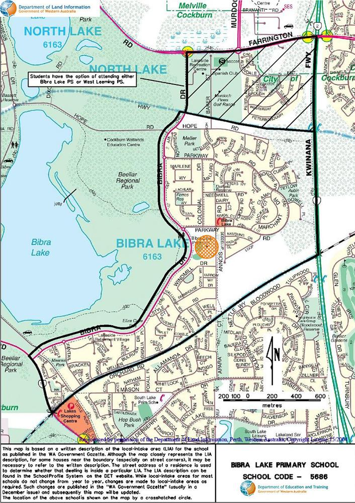 School zone of Bibra Lake Primary School, 29 Annois Road, Bibra Lake, 6163, WA