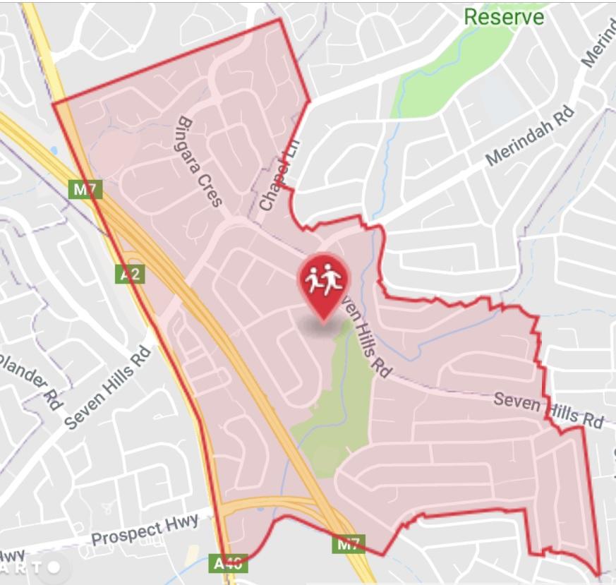 School zone of Matthew Pearce Public School, Astoria Park Rd, Baulkham Hills, 2153, NSW