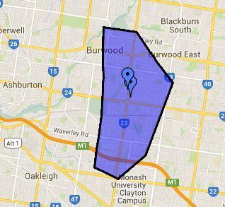 School zone of Mount Waverley Secondary College, Lechte Road, Mount Waverley, 3149, VIC