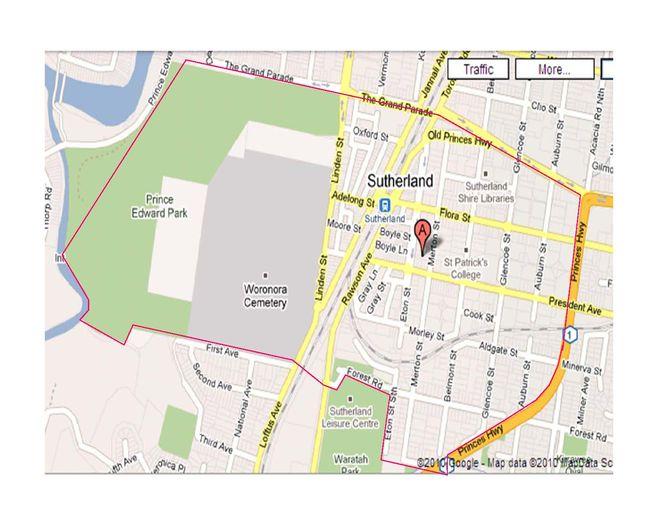 School zone of Sutherland Public School, 38 Eton Street, Sutherland, 2232, NSW